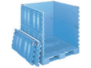 【組立・輸送等の都合で納期に4週間以上かかります】 GIFU/岐阜プラスチック工業 【代引不可】RISU/リス パレットボックスBJB-S・1111X115上下一面扉11 ブルー BJB-S 1111X115-UDS11