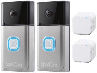 SpotCam/スポットカム クラウド対応フルHDドアベルカメラ SpotCam-Ring 2台同時購入セット 【ピンポン詐欺対策に】【民泊等の大量導入にどうぞ】