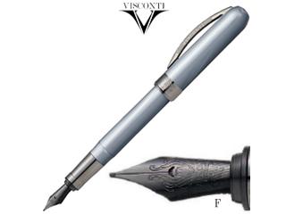 VISCONTI/ヴィスコンティ 万年筆■レンブラント【 メタリックグレー】■ペン先【F】■(V48209DA10BKF)