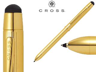CROSS/クロス 【TECH3+/テックスリープラス】ハイエンド フィニッシュ 23金ゴールドプレート 複合ペン AT0090-12