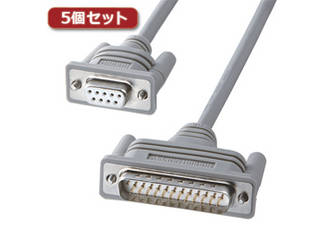 サンワサプライ 【5個セット】 サンワサプライ RS-232Cケーブル KRS-3104FK2X5