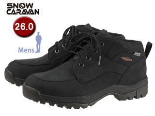 SNOW CARAVAN/スノーキャラバン 0023121 ウィンターシューズ SHC-21レザー (ブラック) 【26.0】【男性用】