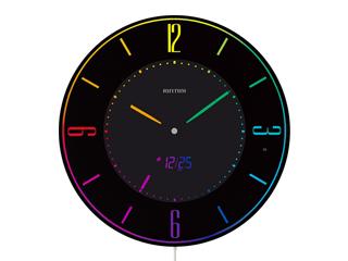 掛置き兼用 エー) 8RZ197SR02 Iroria 超薄型掛時計 RHYTHM/リズム時計 A(イロリア 電波時計