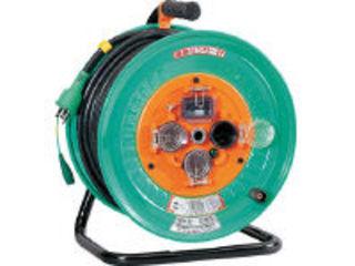 NICHIDO/日動工業 電工ドラム 防雨防塵型100Vドラム アース漏電しゃ断器付 30m NPW-EB33