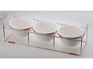 ワイヤースタンドセット陶器28cmボール付/BQ9909-2813(GR)