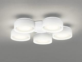 ODELIC WF822LD 灯具のみ【LED・乳白ケシガラス・5灯】