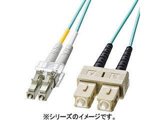 サンワサプライ OM3光ファイバケーブル LCコネクタ-SCコネクタ 1m HKB-OM3LCSC-01L