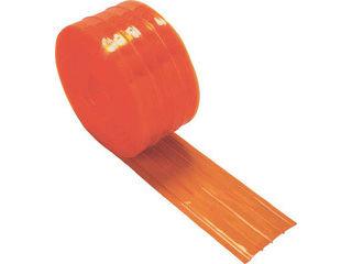 TRUSCO/トラスコ中山 ストリップ型リブ付き間仕切りシート防虫オレンジ2X200X30M TSRBO-220-30