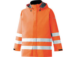 MIDORI ANZEN/ミドリ安全 雨衣 レインベルデN 高視認仕様 上衣 蛍光オレンジ 3Lサイズ RAINVERDE-N-UE-OR-3L