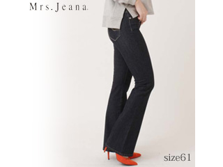 MrsJeana/ミセスジーナ 2WAYストレッチ■ベーシックブーツカットパンツ【W5ワンウォッシュ】■サイズ61