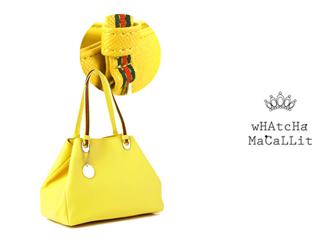 wHAtcHaMaCaLLit/ワチャマコリ 変形カラー トートバッグ 【イエロー】