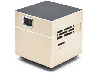 日本トラストテクノロジー ポータブルプロジェクター CUBE ゴールド SPCUGD