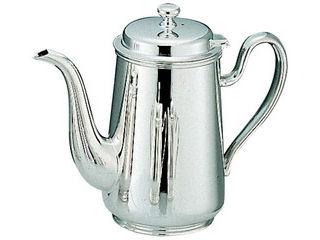 H 洋白 ウエスタン型 コーヒーポット 2人用 三種メッキ