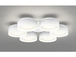 ODELIC WF823LD シャンデリア灯具【LED・電球色】(乳白ケシガラス・6灯)