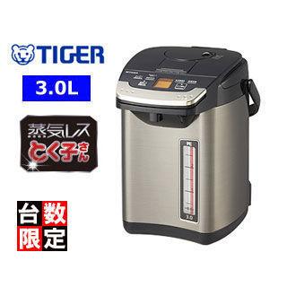 【nightsale】 TIGER/タイガー魔法瓶 PIG-S300 蒸気レスVE電気まほうびん とく子さん 【3.0L】 (ブラック)