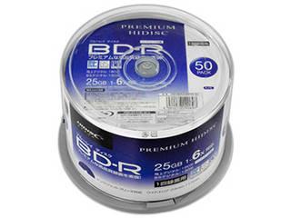 HIDISC 6個セット PREMIUM HIDISC BD-R 1回録画 6倍速 25GB 50枚 スピンドルケース HDVBR25RP50SPX6