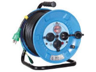 NICHIDO/日動工業 電工ドラム 防雨防塵型100Vドラム アース過負荷漏電しゃ断器 30m NPW-EK33