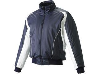 ZETT/ゼット BOV515-2911 長袖/半袖切り替え式ハーフジップジャンパー 【L】 (ネイビー×ホワイト)