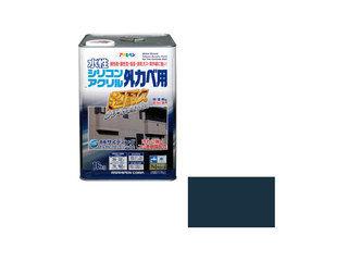 ASAHIPEN/アサヒペン 水性シリコンアクリル外かべ用 16kg アトランティックブルー