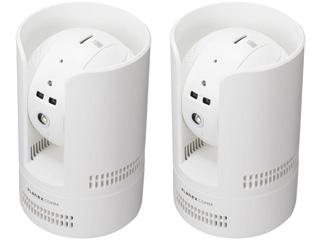 PLANEX プラネックスコミュニケーションズ フルHD パン・チルトネットワークカメラ カメラ一発! CS-W72FHD 2台同時購入セット