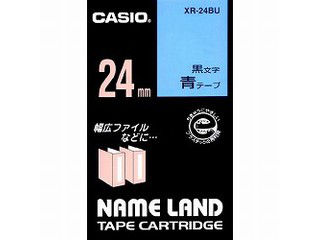 スタンダードテープ 8m CASIO カシオ ネームランドテープ24mm XR-24BU 青 クリアランスsale 期間限定 奉呈