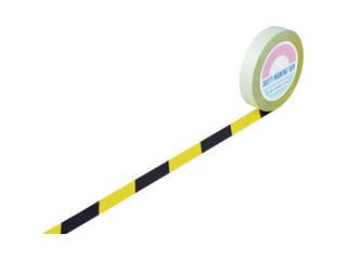 J.G.C./日本緑十字社 ガードテープ(ラインテープ) 黄/黒(トラ柄) 25mm幅×100m 148022