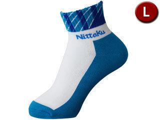 底カラーのレギュラーソックス Nittaku ニッタク スラッシュソックス 贈答品 Lサイズ 百貨店 NW2987-09 ブルー 男女兼用