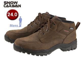 SNOW CARAVAN/スノーキャラバン 0023121 ウィンターシューズ SHC-21レザー (ブラウン) 【24.0】【男性用】