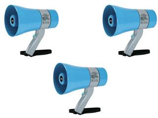 JVCケンウッド 【3個セット!】拡声器 メガホン (6W) PE-M306 【防塵・防水対応】 【KAKUSEI】