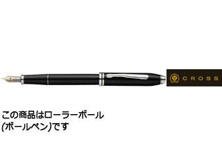 CROSS/クロス 【TOWNSEND/タウンゼント】ブラックラッカー ロジウムプレートセレクチップローラ―ボール AT0045-4