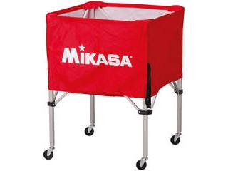 MIKASA/ミカサ 器具 ボールカゴ 箱型・中(フレーム・幕体・キャリーケース3点セット) レッド BCSPS-R