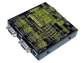 システムサコム工業 USB(COM)搭載 RS-232C 4分配2統合ユニット USB-232C-BND2-B
