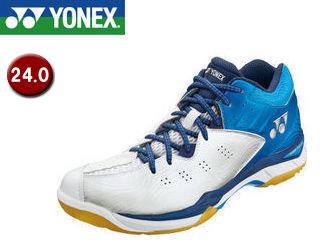 YONEX/ヨネックス SHBCFWM-49 パワークッションコンフォートワイドミッド バドミントン 【24.0】 (クリスタルブルー)