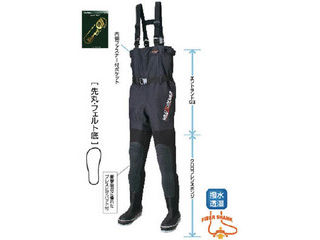 HANSHIN KIJI/阪神素地 FX-543 透湿スリムウェーダー 先丸 27.0cm X体 FX-543-27.0X