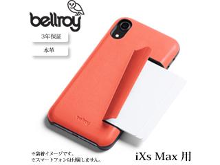 Bellroy/ベルロイ 本革 iPhone ケース 3カード【 iXs Max 用 コーラル 】 BRPTYA-COR-107 iphoneケース スマホケース 本革 レザー オシャレ スリム 携帯