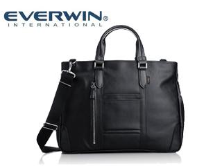 EVERWIN/エバウィン 21598 フィレンツェ メンズ キャンバスビジネスバッグ (ブラック) ショルダー 2way 日本製