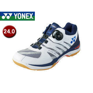 YONEX/ヨネックス SHBCFWD-19 バドミントンシューズ パワークッションコンフォートワイド D 【24.0】 (ネイビーブルー)
