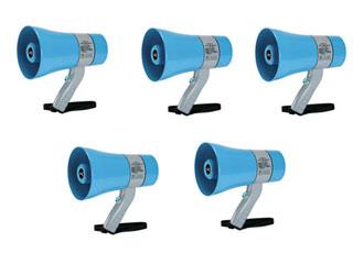 JVCケンウッド 【5個セット!】拡声器 メガホン (6W) PE-M306 【防塵・防水対応】 【KAKUSEI】