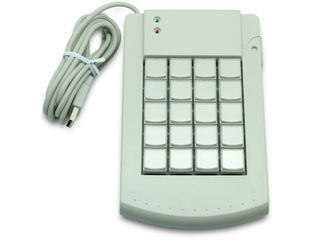 エフケイシステム KB200(W)プログラマブルキーボード20キー ホワイト