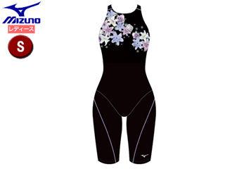 mizuno/ミズノ N2MG9250-96 ストリームアクティバ ハーフスーツ オープン レディース 【S】 (ブラック×ラベンダー)