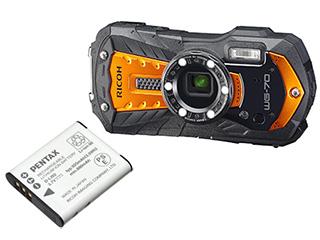 RICOH/リコー RICOH WG-70(オレンジ)+D-LI92バッテリーセット【wg70set】