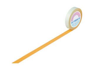J.G.C./日本緑十字社 ガードテープ(ラインテープ) オレンジ 25mm幅×100m 屋内用 148015