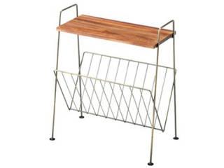 【シンプルなデザイン!今売れています!】天然木天板サイドテーブル ゴールド