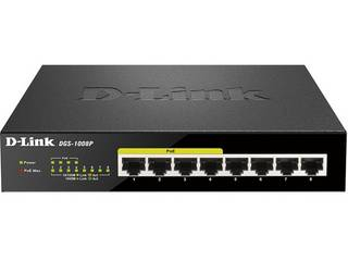 D-Link/ディーリンクジャパン 【キャンセル不可商品】PoE L2ギガスイッチ DGS-1008P リミテッドライフタイム保証 DGS-1008P/D1