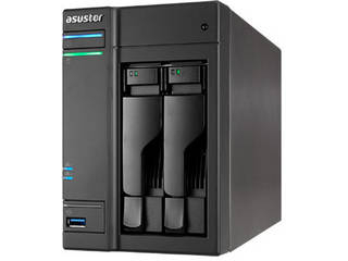 ASUSTOR/アサスター 2ベイNASケース デュアルコア/GbEx2/USB 3.1 Gen-1x4/AES-NIハードウェア暗号化 AS6302T