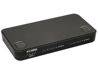 ラトックシステム RS-HDSW42-4K(ブラック) 4K対応 4入力2出力HDMIマトリックススイッチ