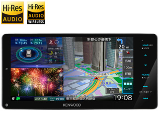 KENWOOD/ケンウッド MDV-M807HDW Sai-Soku/彩速ナビゲーション 200mmワイドモデル 7V型HDパネル DVD/USB/SD AVナビゲーション 地図更新1年間無料/HDパネル搭載/ハイレゾ音源対応