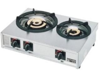 ※こちらはLPガス専用になります。 ガステーブルコンロ親子二口コンロ/M-212C LPガス
