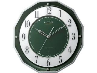RHYTHM/リズム時計 4MY846SR05 【スリーウェイブM846】 高感度電波時計 緑/スリーウェイブ サイレントステップ秒針