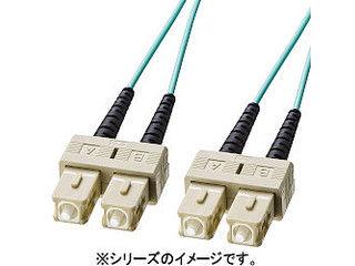 サンワサプライ OM3光ファイバケーブル SCコネクタ-SCコネクタ 2m HKB-OM3SCSC-02L